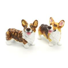 Pembroke Welsh Corgi Dog Ceramic Figurine Salt Pepper Shaker 00020 Ceramic Handmade Dog Lover Gift Collectible Home Decor Art and Crafts by Corgi - madamepOmm -. $59.00. Pembroke Welsh Corgi Dog Lover Ceramic Original Handmade Hand Paint Salt and Pepper Shaker Figurine Ceramic Home Decor Collectibles  Made of ceramic porcelain high fired interior apply clear under-glaze, food safe painted with attention hand painted acrylic paint then apply clear gloss protected.  It's come with...