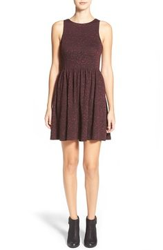 Free shipping and returns on Frenchi® Frenchi Floral Jacquard Skater Dress at Nordstrom.com. Herringbone and houndstooth accents complement the abstract floral jacquard design of a chic sleeveless skater dress finished with a swingy pleated skirt.
