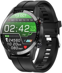 jpantech Smartwatch Touchscreen a Colori Full HD, Promemoria Intelligente,Tracker Fitness con Tracker Sonno Frequenza Cardiaca, Orologio Fitness Impermeabile Fitness Tracker, Smartwatch Waterproof, Bluetooth, Best Smart Watches, Heart Rate Monitor, Blood Pressure, Android, Mens Fitness, Watches For Men