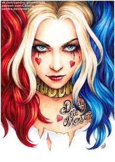 Harley Quinn Drawing, Joker And Harley Quinn, Daddys Lil Monster, Gotham Girls, Geniale Tattoos, Digital Art Girl, The Villain, Drawings, Batman