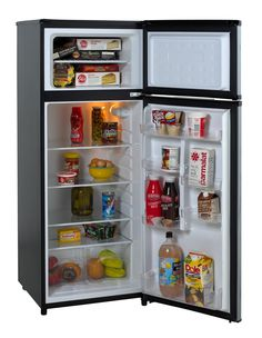Features:  -Reversible doors left or right swing.  -1 Door rack holds 2-liter bottles.  -See through crisper with glass cover.  Product Type: -Compact refrigerator.  Defrost Type: -Cycle.  Installatio