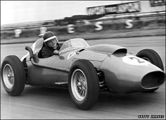 Mike Hawthorn wins the Formula 1 title in 1958 to become the first British champion.