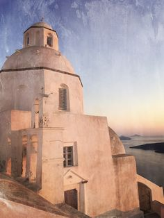 Ag. Minas church in Fira, Santorini. This photo is about the feeling of age, telling a story of how long it has sat on the edge of the Caldera, looking out to the nightly sunset spectacular.