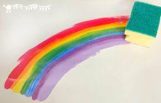 Rainbow Crafts Preschool, Rainbow Activities, Preschool Art Activities, Painting Activities, Little Girl Crafts, Crafts For Girls, Kids Crafts, Rainbow Painting, Rainbow Art