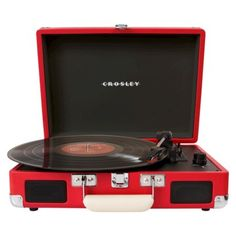 Crosley Radio Cruiser Turntable - Enjoy the rich sound of vinyl records with Crosley Radio's sleek, briefcase-style cruiser turntable. It's designed with built-in speakers for easy portability and USB capability. Retro Record Player, Record Players, Built In Speakers, Stereo Speakers, Portable Speakers, Radios, Tech Gifts, Turquoise, Last Minute Gifts