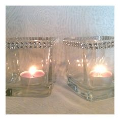 Set of 10 Large Votive glass candle holder by DivineTableCreations, $28.00