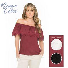 Luce hoy nuestra blusa cuello bandeja en su nuevo color, ¡Atrévete a combinar! REF: 1790