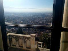 Vistas desde la ventana de la Fundación Rodríguez-Acosta. Foto: Lidia Roman (2013)