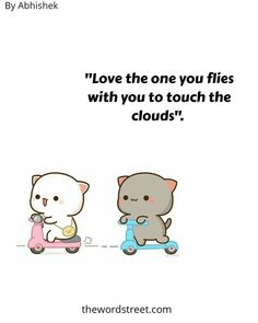 """""""Love the one you flies with you to touch the clouds ☁"""".😍😘😘 Follow Us @thewordstreet 💥 ➖ ➖ ➖ ➖ ➖ ➖  Words by @writers.wing ⭐💖💖 ➖ ➖ ➖ ➖ ➖ ➖  Use #thewordstreet in your posts to get feature 🗞️ . . #peachgoma #peachgomalove #wordsofwisdom #milkmocha#lovequotes Best Love Quotes, Sad Quotes, Motivational Quotes, Instagram Handle, Friendship Quotes, The One, Writers, Hello Kitty, Clouds"""