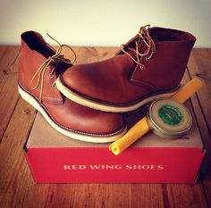 Red wing Chukka, color and style available ss 14' at www.haloshoes.com