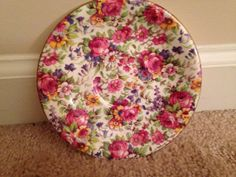 VintageRoyal Winton Chintz Round Saucer by TheDaintyBullet on Etsy, $20.00