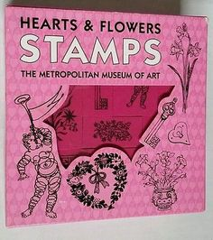 Hearts+Flowers MOMA 22 Rubber Stamp Set Museum of Modern Art Cardmaking Stamping