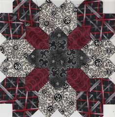 Patchwork of the Crosses by Kathy Timmons  Precut honeycombs available at Paperpieces.com