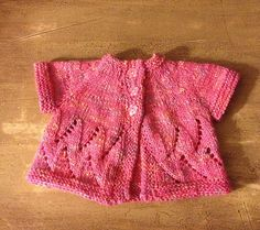 Ravelry: Meadowsweet Cardigan pattern by Sarah Franklin. Really sweet free pattern! One-piece, top- down baby cardi, knit with just 250 to 300 yds of DK or worsted yarn!  <3