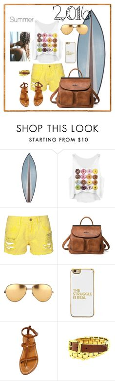 """""""Untitled #21"""" by riuk ❤ liked on Polyvore featuring WALL, Linda Farrow, BaubleBar, K. Jacques and Michael Kors"""