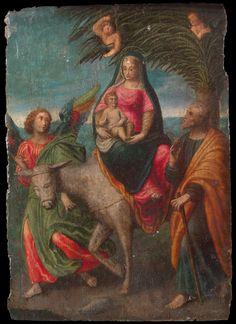 Benvenuto Tisi called Garofalo (Garofalo, 1476 - Ferrara, 1559), Flight into Egypt,Painting on wood Private collection
