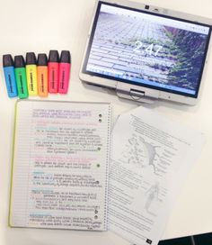 courtney's study blog: an afternoon spent writing biology notes at the library