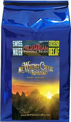 Mt Whitney 5 Lb Swiss Water Process Decaf Columbia Supremo  Whole Bean Medium Roast Arabica Coffee Nitrogen Packed for Freshness -- Check this awesome product by going to the link at the image.
