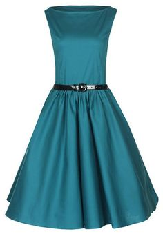 New Classy Audrey Vintage 1950's Rockabilly Pinup Swing Evening Dress Hepburn | eBay
