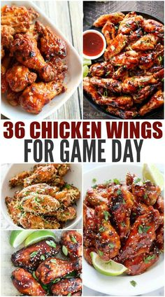 36 + Chicken Wings For Game Day- We baked and fried. We have sweet, spicy, citrusy, spicy, mild and Chicken Wing Flavors, Chicken Wing Sauces, Grilled Chicken Wings, Chicken Wing Recipes, Recipe Chicken, Crockpot Chicken Wings, Hot Wing Sauces, Chicken Sandwich, Fried Chicken
