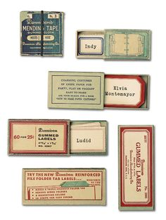 Uppercase  Vintage Labels    http://gliha.blogs.com/materialarchive/typography/