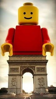 lego and paris... :D    Is this not a commentary on the degradation of modern society, the rejection of the enduring aspects of history, and the the superimposition of transient plasticity over ancestral artistry?