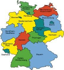 map of germany nice and simple