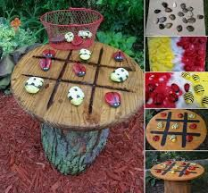 Image result for cable reel garden ideas