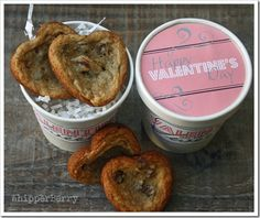 Heart Shaped Valentine Cookies (and free printable labels)