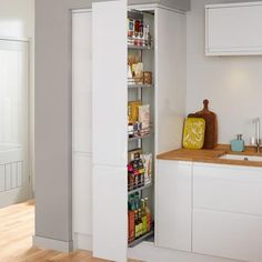 Premium Full-Height Pull-Out Larder Howdens - handleless pull out larder