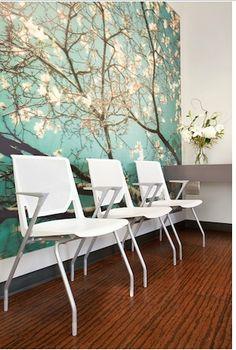reception area http://medaesthetics.wordpress.com/category/healthcare-interior-design/. I like the floor!