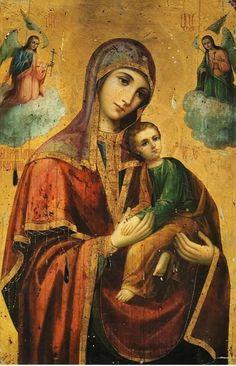 Mary And Jesus, Orthodox Icons, Jesus Art, Art, Catholic Art, Art Icon, Sacred Art
