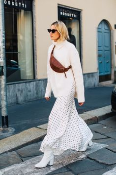 flowy skirt and sweater