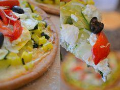 Gluten Free Zucchini & Goat Cheese Pizza