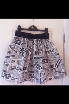 Megan's newspaper skirt