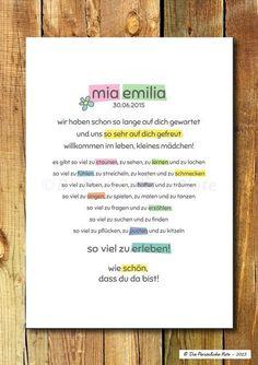 Gastgeschenke - Druck/Print: Süße Geschenkidee zur Geburt/Taufe - ein Designerstück von DiePersoenlicheNote bei DaWanda