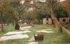 """""""Blanqueando la ropa"""" (1882) de Max Liebermann (1847-1935)"""