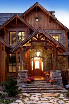 The Rustic Luxury Houses Are Stone And Wood Perfection Photos