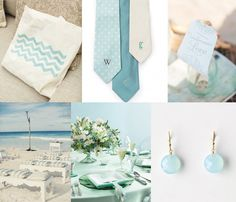 Sea Glass Inspirations l Beach Wedding l www.CarolinaDesigns.com