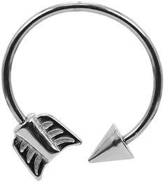 Cupid Arrow Circular Cartilage Earring-Circular Barbell-Lip Hoop-Tragus Earring-Septum-Ring-16g at BodySparkle.com
