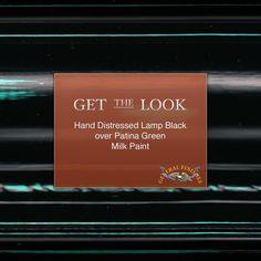 Get the Look: General Finishes Lamp Black Milk Paint over Patina Green is a beautiful combination!  #generalfinishes #gfmilkpaint #waterbased #getthelook