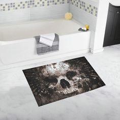 Charmant Black Skull Bathroom Rug #BathroomRugs