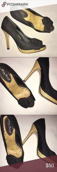 🎉HOST PICK🎉ANNE MICHELLE BLACK BOW ANNE MICHELLE HEELS!! Anne Michelle Shoes