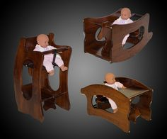 3-in-1 Amish High Chair | DudeIWantThat.com
