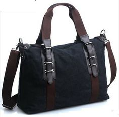 1601cd1b1ffd Men canvas travel bag new arrival male high quality canvas+genuine leather  handbag multifunctional bag
