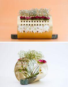 These unconventional vase designs make creative floral arrangements possible
