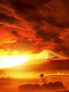 Mt. Fuji, Japan..Stunning Sunset