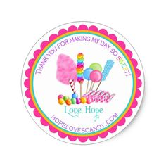 Shop Candy Circus Stickers created by LittlebeaneBoutique. Disney Balloons, Circus Carnival Party, Party Favors For Kids Birthday, Candy Favors, Party Favor Tags, Flower Frame, Candyland, Custom Stickers, Crafts