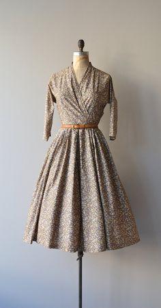 Pebbled Beach dress vintage 1950s dress cotton 50s by DearGolden