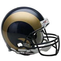 NFL St. Louis Rams Full Size Proline VSR4 Football Helmet by Riddell. $199.95. 4-point chin strap. Large polycarbonate shell/full size shell. Authentic internal padding and inflation points. Z2B carbon steel runningback/quarterback facemask. Authentic team shell colors and decal. Support your favorite team by displaying the NFL® Proline Authentic football helmet in your favorite room. This officially licensed helmet is designed with a Kra-Lite II® Polycarbonate Lexan...